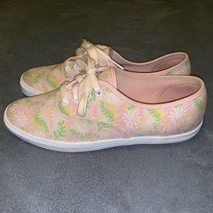 Keds floral light pink size 6